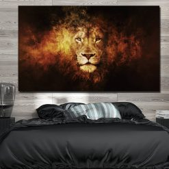tableau lion design