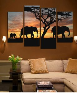 elephant tableau sur toile