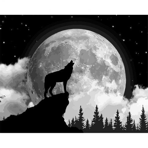 peinture magique loup