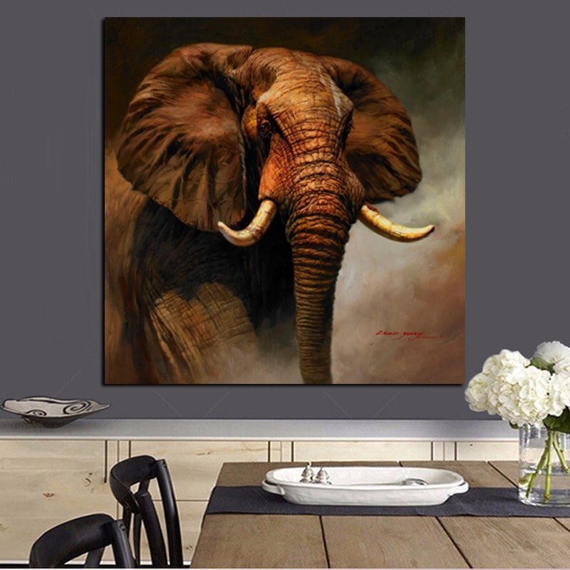 peinture tete elephant