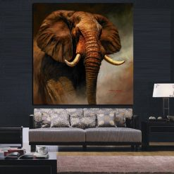 peinture tete d'elephant