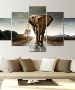 tableau avec elephant
