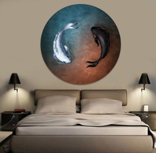 tableau circulaire poisson japonais