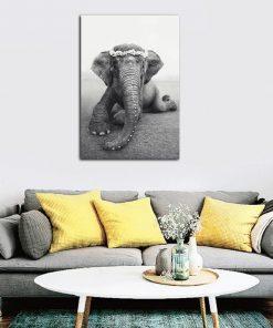 tableau elephant bebe