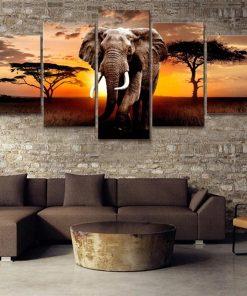 tableau elephant d_afrique