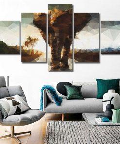 tableau elephant geometrique