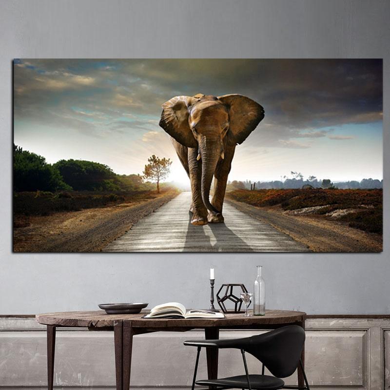 tableau elephant grand format_3