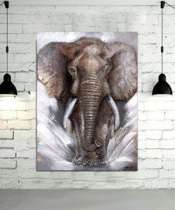 tableau elephant gris
