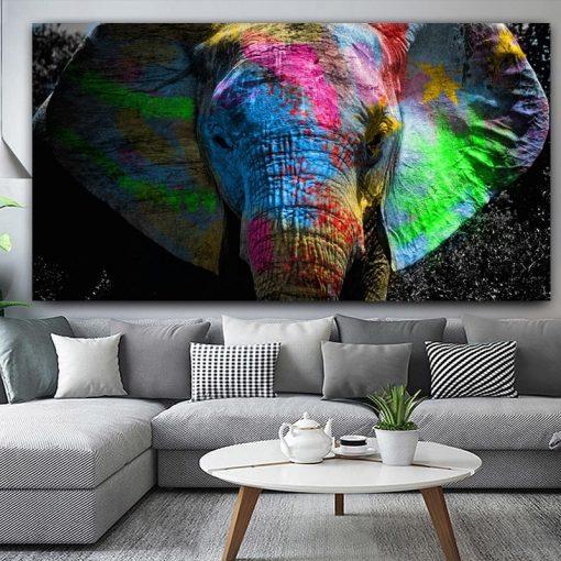 tableau elephant pop art