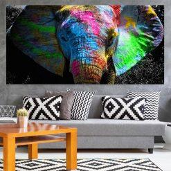 tableau pop art elephant