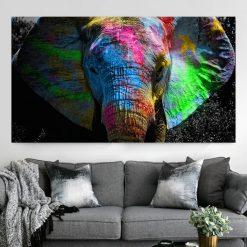 tableau elephant style pop art