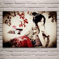 tableau femme japonaise