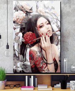 tableau fille japonaise