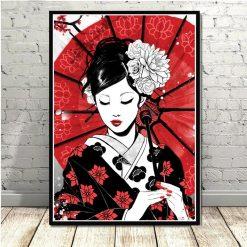 tableau geisha japonaise