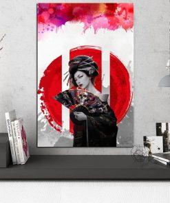 tableau japonais geisha