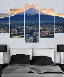 tableau japonais mont fuji