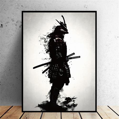 tableau japonais samourai