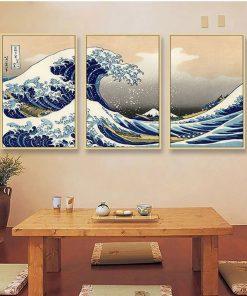 tableau japonais vague
