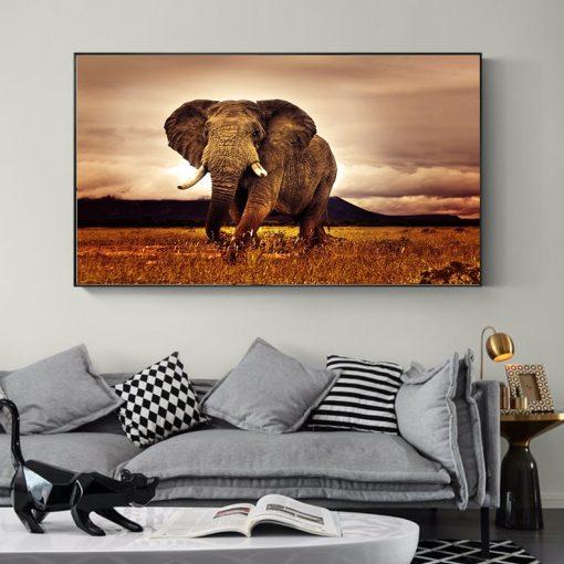 tableau mural elephant