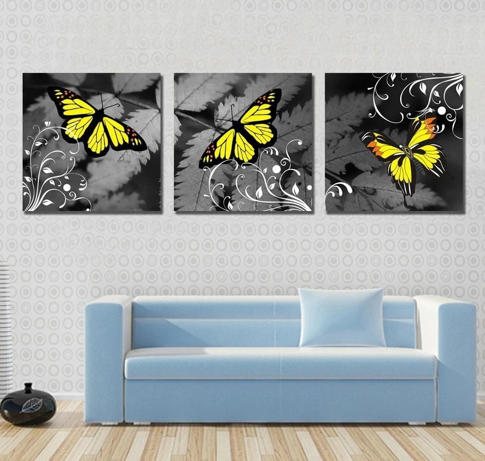 tableau mural papillon