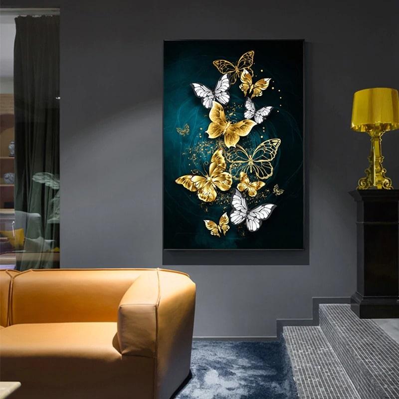 tableau papillon style moderne