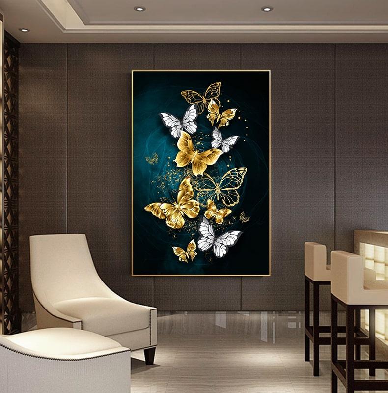 tableau papillon moderne