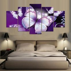 tableau papillon violet