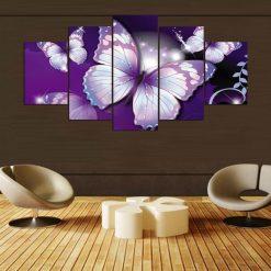 tableau violet papillon
