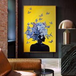 tableau peinture papillon abstrait