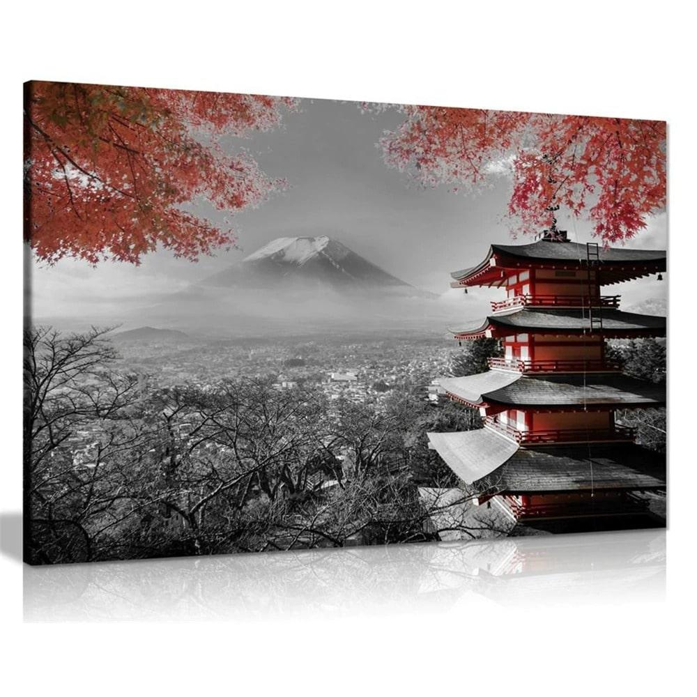 tableau temple japonais