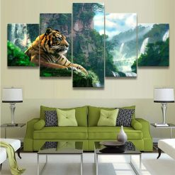 tableau tigre jungle