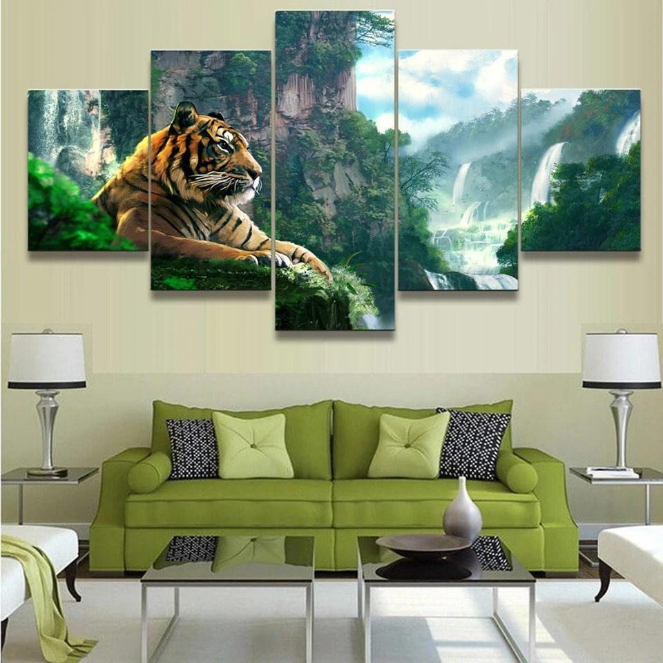 tableau tigre jungle