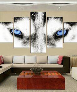 toile du regard du loup