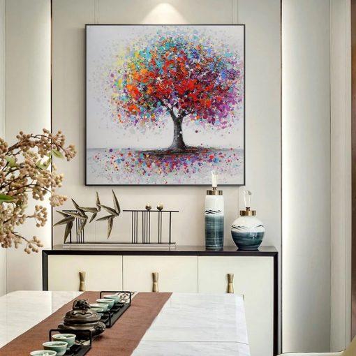 tableau arbre coloré