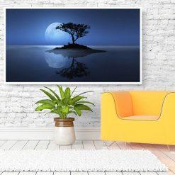 tableau arbre nuit pleine lune