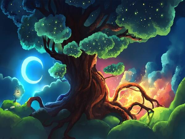 tableau arbre peinture
