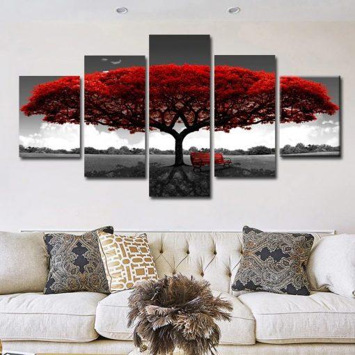 tableau arbre rouge