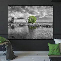tableau arbre vert