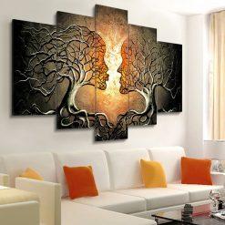 tableau arbre visage