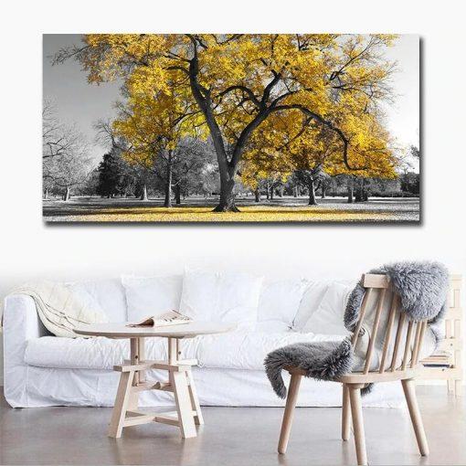 tableau avec arbre en relief