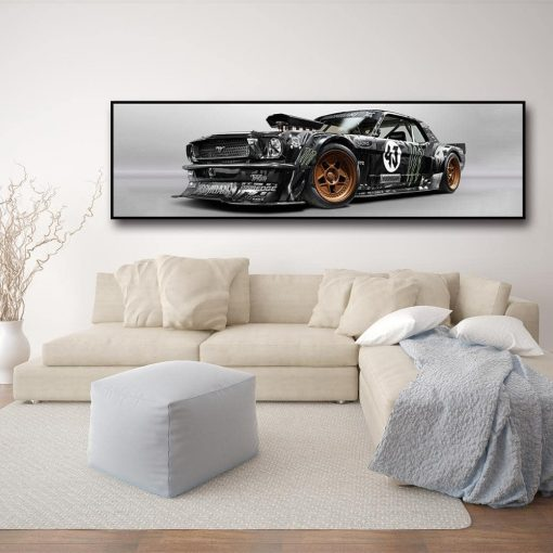 tableau ford mustang panoramique
