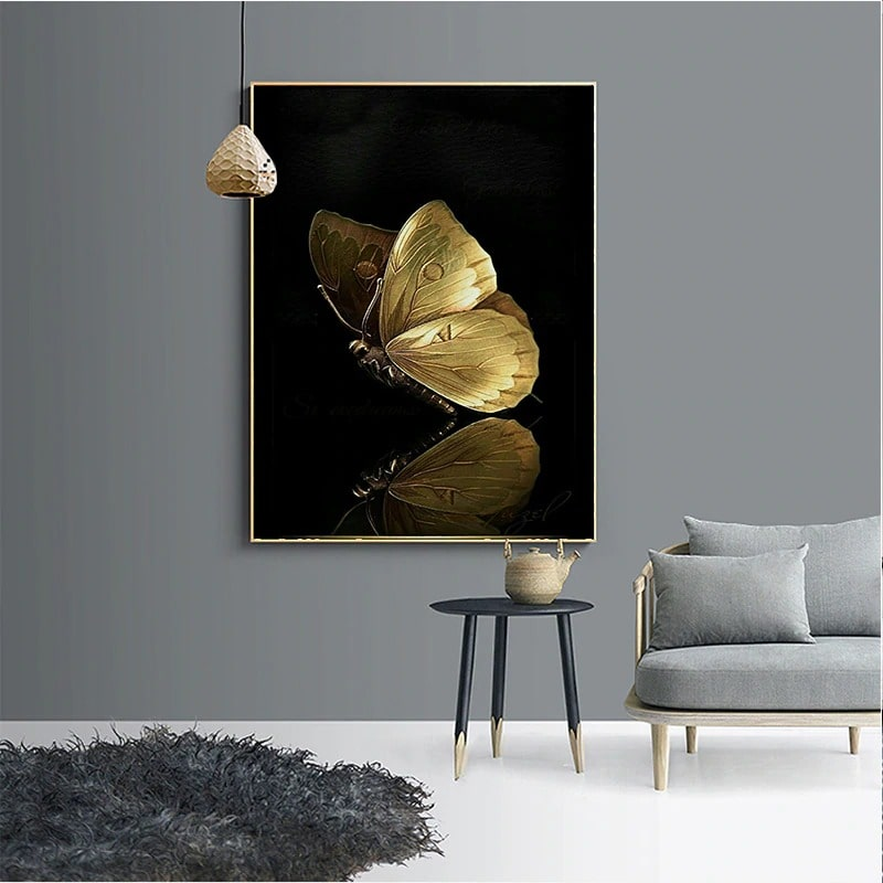 tableau papillon relief