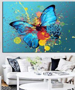 tableau peinture papillon