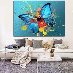 tableau papillon peinture