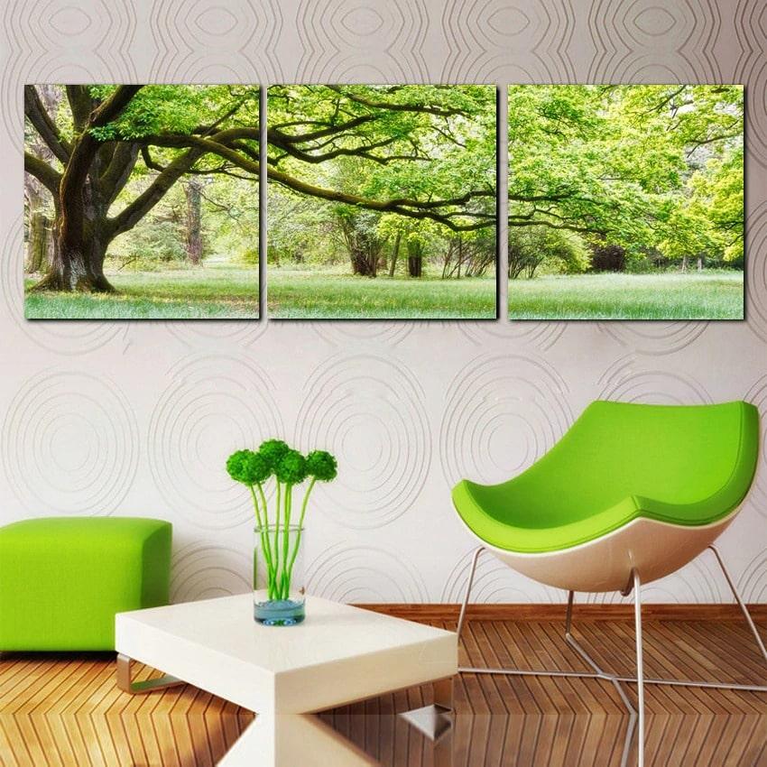 tableau triptyque arbre